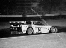 Chevrolet Corvette C5-R (Collins/Pilgrim/Freon) Le Mans 2000 nightime.  Photo